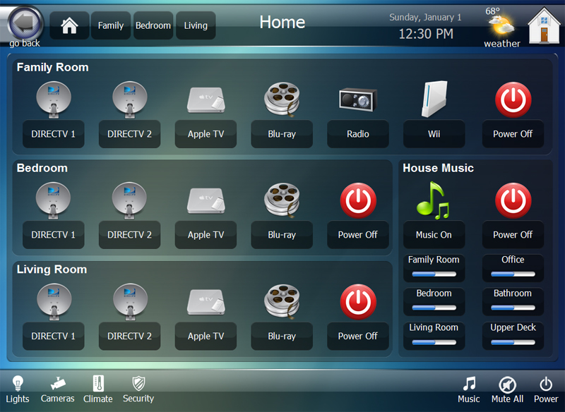 eLuxe RTI iPad Home Control System